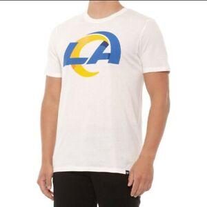 Los Angeles Rams 47 Brand NFL Short Sleeve White T-Shirt Men's size Medium NWT