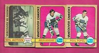 1972-73 OPC VANCOUVER CANUCKS CARD  LOT (INV# C2477)