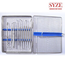 Dental Implant bone Grafting Syringe/Tamper/Packer Scissor tweezers 5pc Curettes
