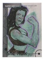 2013 Fleer Marvel Retro She-Hulk Sketch Card Freddy Lopez Art Base #38 Rare 1/1