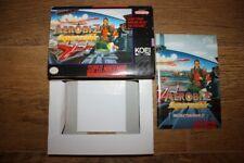 Boite + manuel Aerobiz Supersonic Super Nintendo SNES