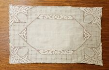 """1920s Vintage Lot of 8 Art Deco Embroidered Linen Place Mats 16"""" x 10"""""""