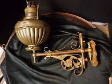 NICE Ornate Victorian BRONZE Swing Arm Oil Lamp Eastlake Wall Sconce Bracket