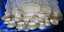 Exquisite Royal CROWN DERBY ELIZABETH GOLD Dinner Tea And Coffee service