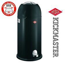 Wesco diseño XL Cubo de basura kisckmaster MAXI 40l Cubo de Pedal Negro