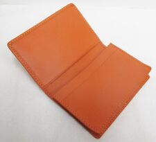 Andrew Philips Florentine Napa Leather Fully Gusseted Business Card Case Orange