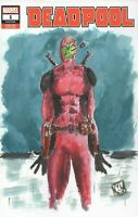 Deadpool Son of Man Apple Color Comic Art Blank Sketch Cover Variant Mike Wehner