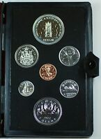 1977 Canada Prooflike Set 7 Beautiful GEM Coins In Case CASE DEFECT