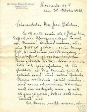 * Lettre manuscrite adressée à Jean Babelon, 1921 - 200/396