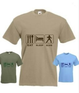 Eat Sleep Elvis Presley Funny T-Shirt any size