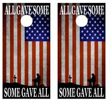 All Gave Some, Some Gave All Cornhole Board Wraps Free Lamination 2236