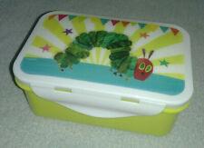 Gelb/Weiße Brotdose, Frühstücksdose, Aufbewahrungsbox mit Raupe - 150x100x60 mm