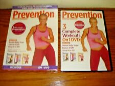 Prevention 3 Complete Workouts on 1 Dvd ~ Belly Yoga + Dance It Off +Drop It In