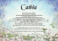 Personal First Name Meaning Certificate - Hummingbirds - Gifts, Birthdays