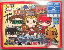Big Bang Theory T-SHIRT Funko Pop Tee BAZINGA SIZE S - Justice League DC Comics