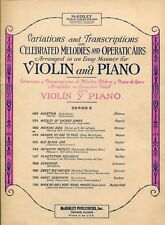 LISTEN TO THE MOCKING BIRD - THEME WITH VARIATIONS - VIOLIN & PIANO - 1942
