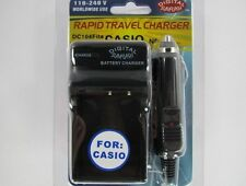CASIO NP-110 DC104 Fits Wall & Car Charger by Digital Sunflash - Black