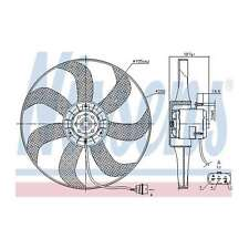 Fits VW Golf MK4 1.6 16V Genuine OE Quality Nissens Engine Cooling Radiator Fan