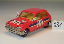 Majorette 1/55 Nr. 257 Renault 5 Limousine rot RTL #881