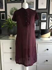 Silk Gap Dress 6 Navy Red Slip Blogger Trend Scandi Artisan