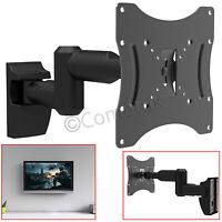 """23"""" - 42"""" LCD LED Monitor TV Wall Mount Bracket Tilt Double Arm Swivel Holder UK"""