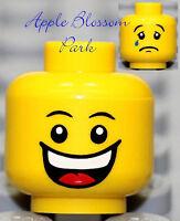 NEW Lego Boy/Girl MINIFIG HEAD Happy Castle Jester Head w/White Teeth Smile Tear
