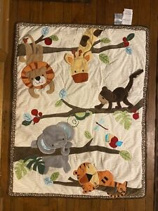 Lambs & Ivy 3-D Jungle Theme Baby Quilt