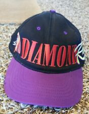 Vtg Diamond Rio 80s Country Music Band Embroidered Black Purple Snapback Hat Cap
