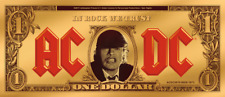 Cook Islands 2019 1$ AC/DC  Angus Buck 1/10 g Gold Banknote