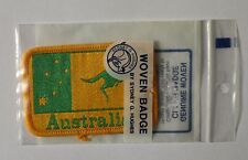 AUSTRALIA WOVEN BADGE, WOVEN BADGE AUSTRALIA,AUSTRALIA WOVEN BADGE