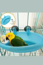 New Plastic Birds Cage Bath Basin With Mirror For Pets Small Bird Parrot Bathtub