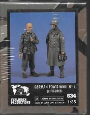 Verlinden Wwii German Pow Soldiers I, 2 Resin Figures 1/35 634 St