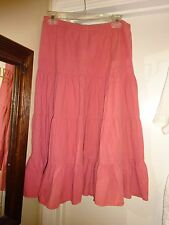 "Outlook Ladies Light Rose Size Large Elastic Waist Skirt 29"" Long"
