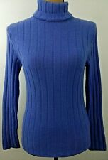 NYC Women's Size Small Purple Ribbed Turtleneck Long Sleeve Top