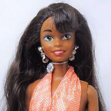 African American Vintage 1995 Mattel Sparkle Beach Barbie Doll original outfit