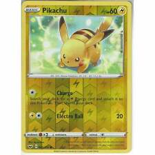 065/202 Pikachu   Common Reverse Holo Card Pokemon TCG Sword & Shield (Base Set)