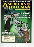 American Rifleman Magazine NRA Aug 1997 Factory Custom  Handguns Marline .50