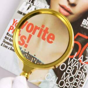 Metal Handheld 15X Magnifier Magnifying Glass Loupe Reading Jewelry Large 60mm