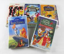 DISNEY VHS Tape Lot NEW Sleeping Beauty Lion King Enchanted Christmas Hunchback