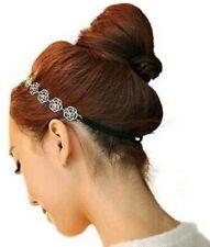 Accessoire mariage bijou de cheveux serre tête headband élastique fleur argentée