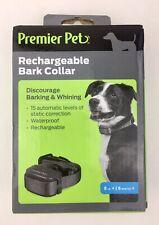 Premier GBC00-16296 Pet Rechargeable Bark Collar  Adjustable 8lb + New