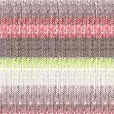 NORO ::Kagayaki #17:: wool cotton silk yarn Mauve-Red-Mint-Ecru-Nut