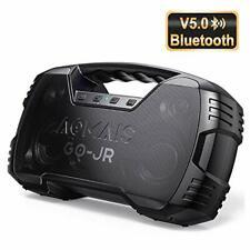 Aomais Portable Bluetooth Speaker V5.0 Waterproof Wireless Party iPhone Black