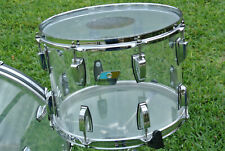 "LUDWIG USA 14"" CLEAR VISTALITE CLASSIC RACK TOM for YOUR DRUM SET! LOT #Z219"