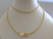 9ct Solid Yellow Gold Braided Rope Chain Necklace - 45cm's 18 Inches N13
