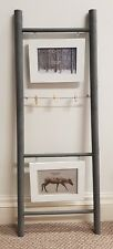 Wooden Grey Photo Frame Step Ladder Picture Display STUNNING Decor Chic 90cm