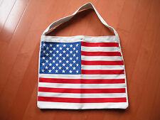 "Women cotton canvas tote bag w/America flag print size 18""x 15"" new"