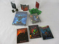 CHAOS ISLE Zombie Card Game & 4 EXPANSIONS Skull Dice & 50 Glass Counters NEW!!