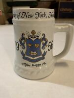 "VINTAGE UNIVERSITY Of  New York 1956 Alpha Kappa Phi 5"" Nassau China Mug Tankard"
