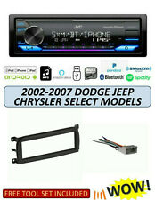 JVC KD-X370BTS Stereo Kit for Select 2002-2007 DODGE JEEP CHRYSLER, ALEXA XM